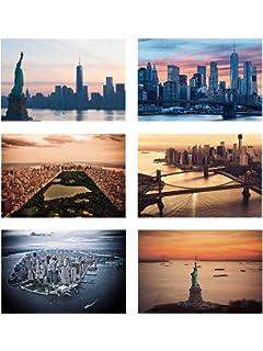 Carte Postale New York.Amazon Com Cavallini Co New York Carte Postale Postcards