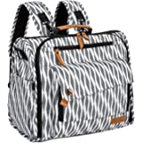 ALLCAMP Zebra Diaper Bag/Multi-Functional Convertible Diaper Backpack Messenger Bag,Large Capacity, Waterproof and Stylish