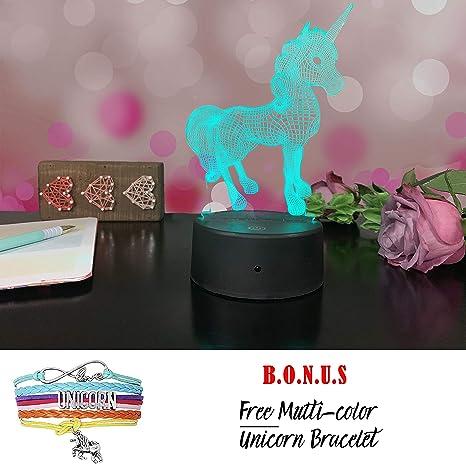 Amazon.com: Etiquetas intuitivas de unicornio 3D, paquete de ...