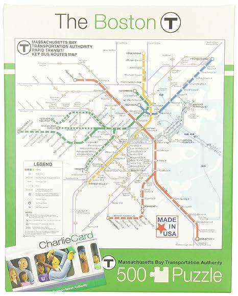 Boston Subway Map App.Amazon Com New York Puzzle Company Boston Transit Boston T 500