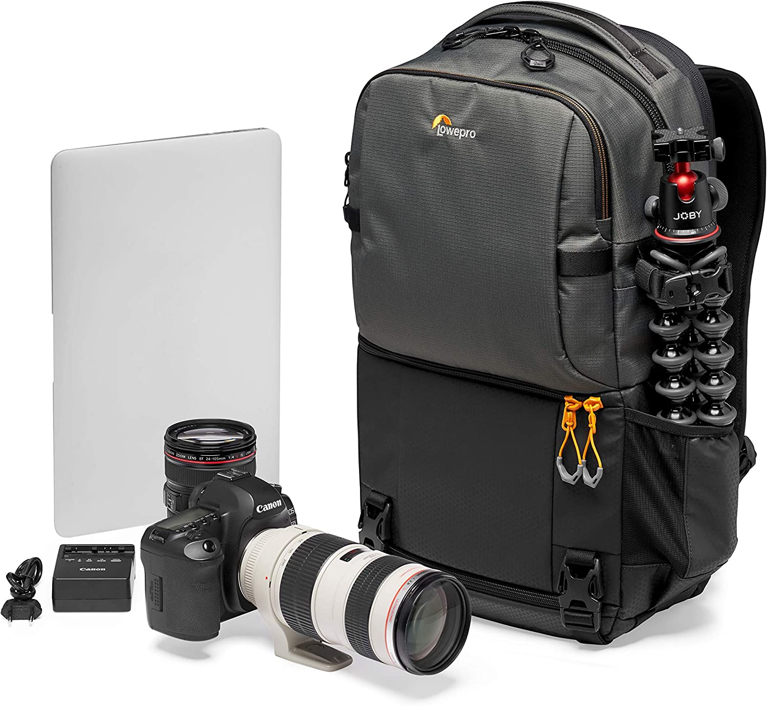 Lowepro Fastpack BP 250 AW III Mirrorless DSLR Camera Backpack with QuickDoor Access and 13 Inch Laptop Compart- DSLR accessories, Camera Bag Backpack for Cameras Like Nikon D850, 300D Ripstop,Grey