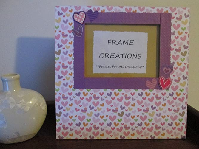 Amazon.com: 5x7 Heart Themed - Hand Decorated Picture Frame: Handmade