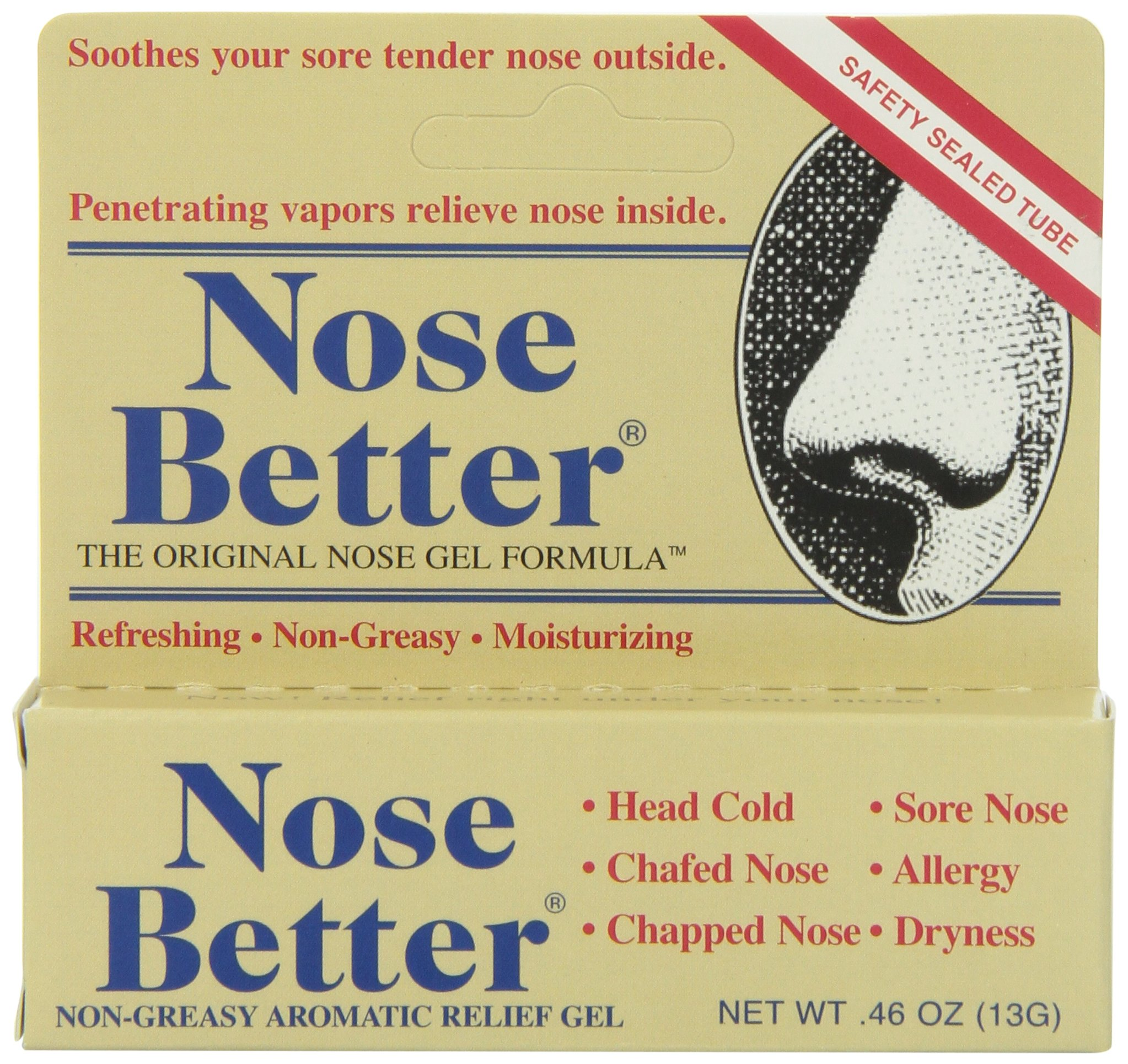 Nose Better Non-Greasy Aromatic Relief Gel .46 oz by Oakhurst Co.