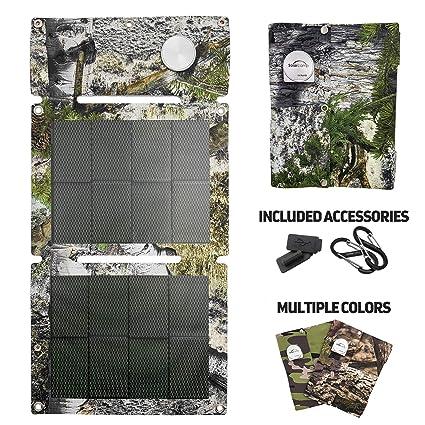 Amazon.com: Cargador solar de campamento 5 V 6 W portátil ...