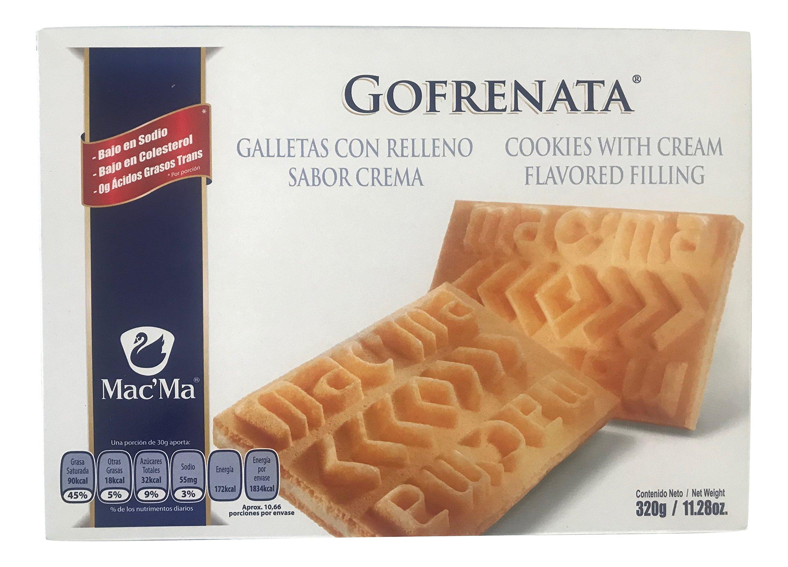 Macma Gofrenata Cookies with Cream Flavored Filing, Mexican Cookies, Galletas con Relleno