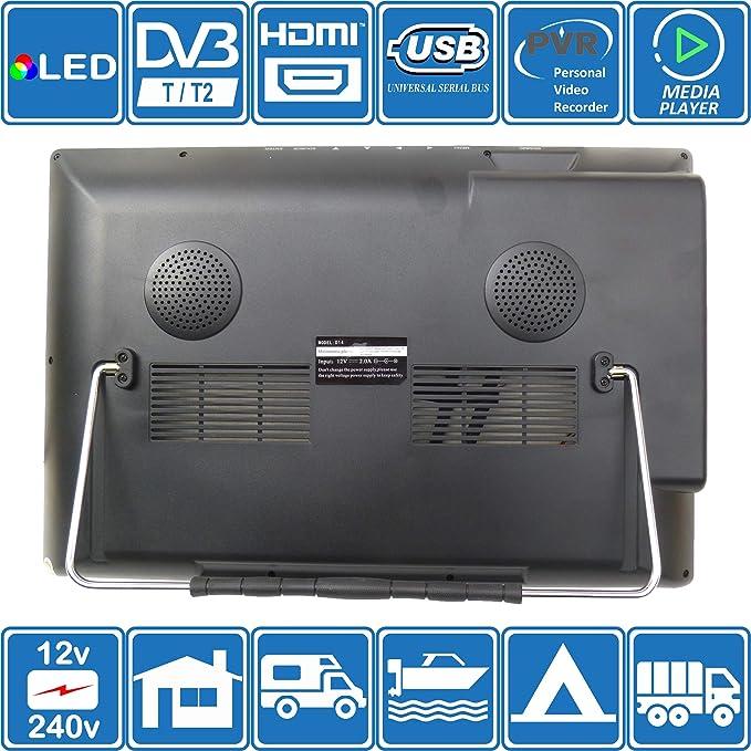 Autocaravana Caravana Barco Cocina 12 voltios 14 Pulgadas LED TV ...
