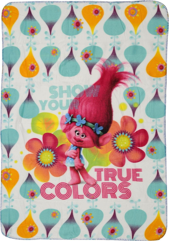 Couverture Polaire sous Licence Les Trolls 100x140cm 140x100 cm Polyester Multicolore ST.IOANNIDIS/&SON Plaid