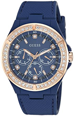 2fbb6796d31a Amazon.com  GUESS Women s Stainless Steel Japanese-Quartz Watch with ...