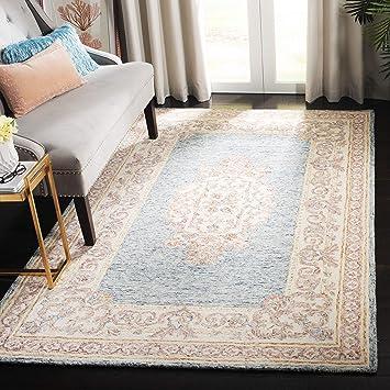 Safavieh Aubusson Collection Aub101m Handmade Traditional Premium Wool Area Rug 6 X 6 Square Blue Pink Furniture Decor