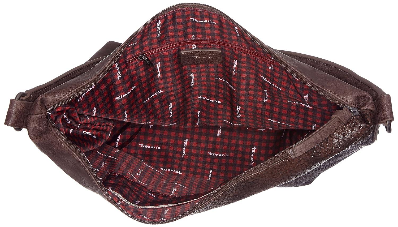 Damen Bimba Hobo Bag Schultertasche, Grau (Graphite Comb), 14x40x30 cm Tamaris