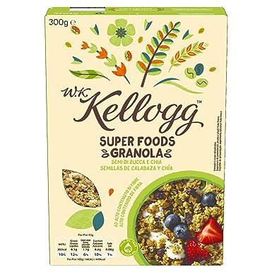 Kelloggs Cereales Super Foods Chía - 2 Paquetes de 300 gr ...