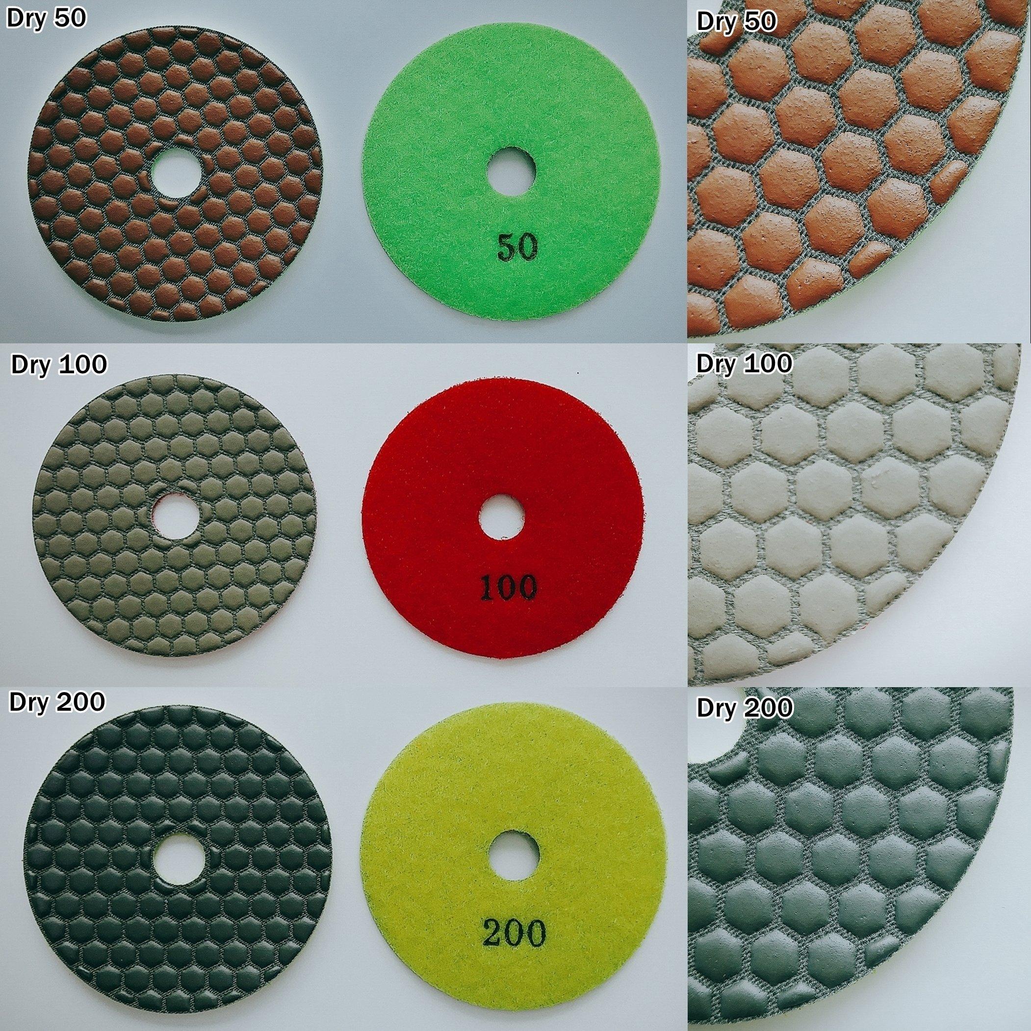 4'' inch Professional Diamond Dry Polishing Pad(Buff : Dark)