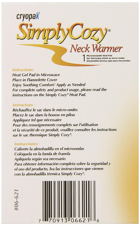 Amazon.com: Cryopak Simply Cozy 5 5/8 x 22 3/8-Inch Neckwarmer, 1 Count: Health & Personal Care
