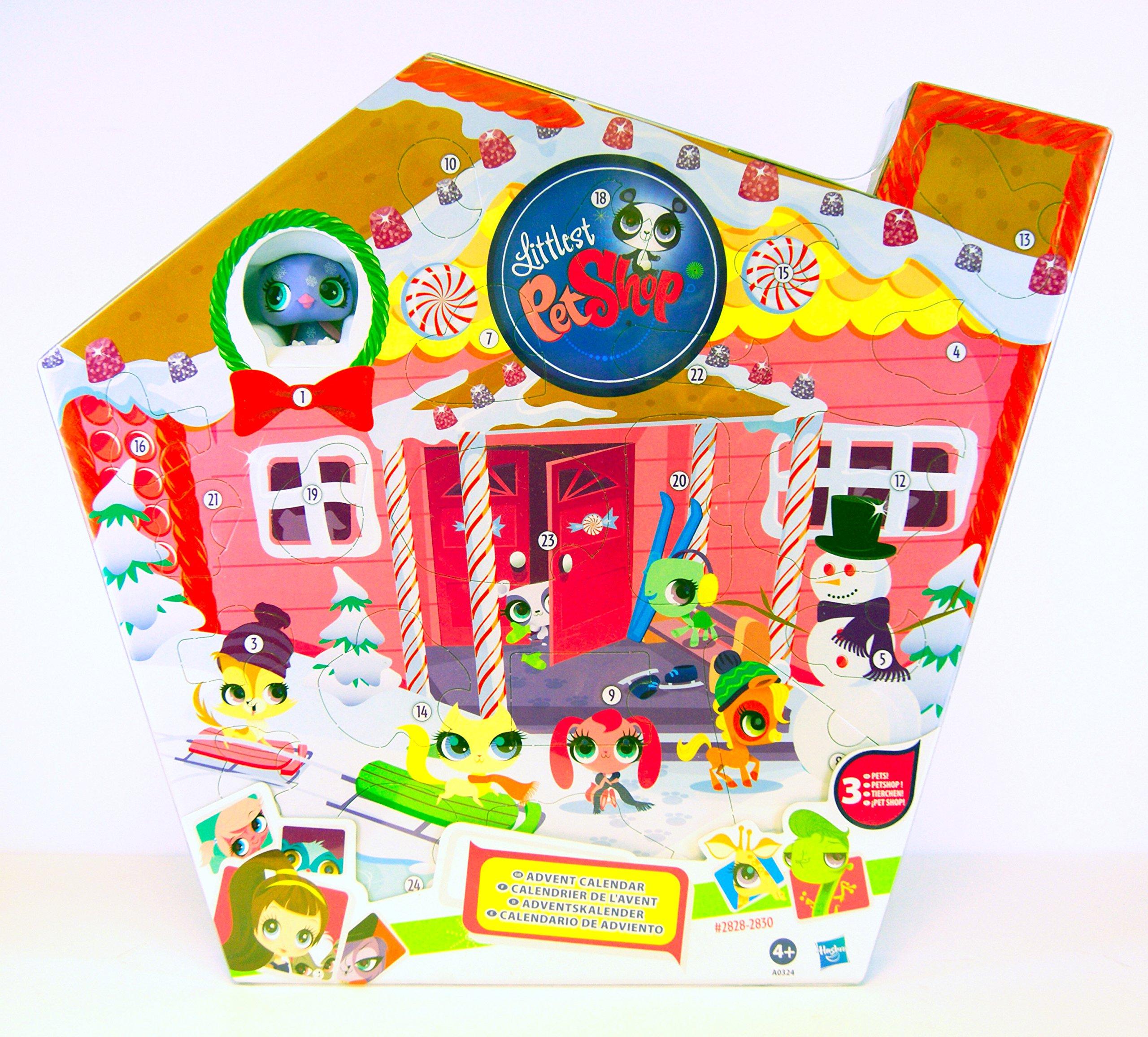 Littlest Pet Shop - Advent Calendar 2012 - 3 Pets incl. #2828 - #2829 - #2830 and a lot of accessories