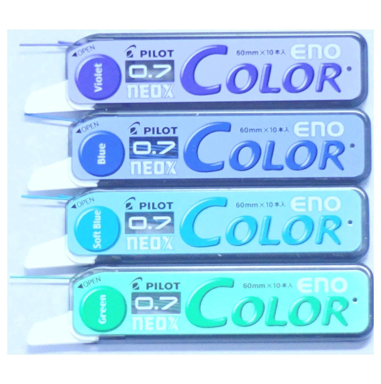Japan Import Pilot Color Eno Neox Mechanical Pencil Lead 8 Color Set 0.7 mm