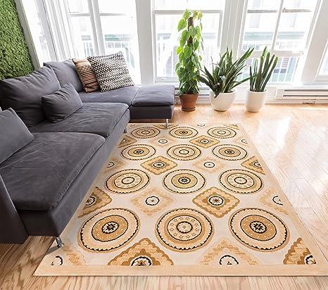 Amazon.com: Well Woven Mezzo Tiles Ivory Traditional ...