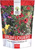 Deer Resistant Wildflower Seed Mixture - Bulk 1/4 Pound Bag - Over 60,000 Deer Tolerant Seeds - Open Pollinated and Non GMO
