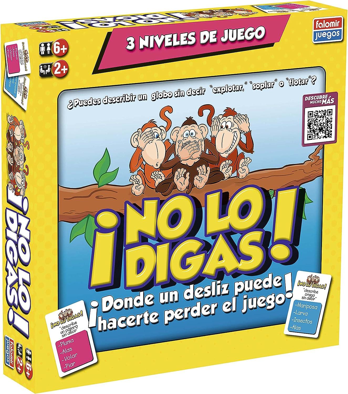 Falomir-No lo digas Juego de Mesa, Multicolor, única (32-21001) , color/modelo surtido: Amazon.es: Juguetes y juegos