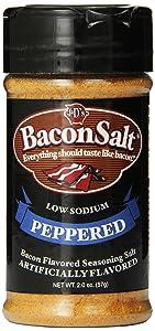 J&D's Bacon Salt, Peppered, 2 Ounce