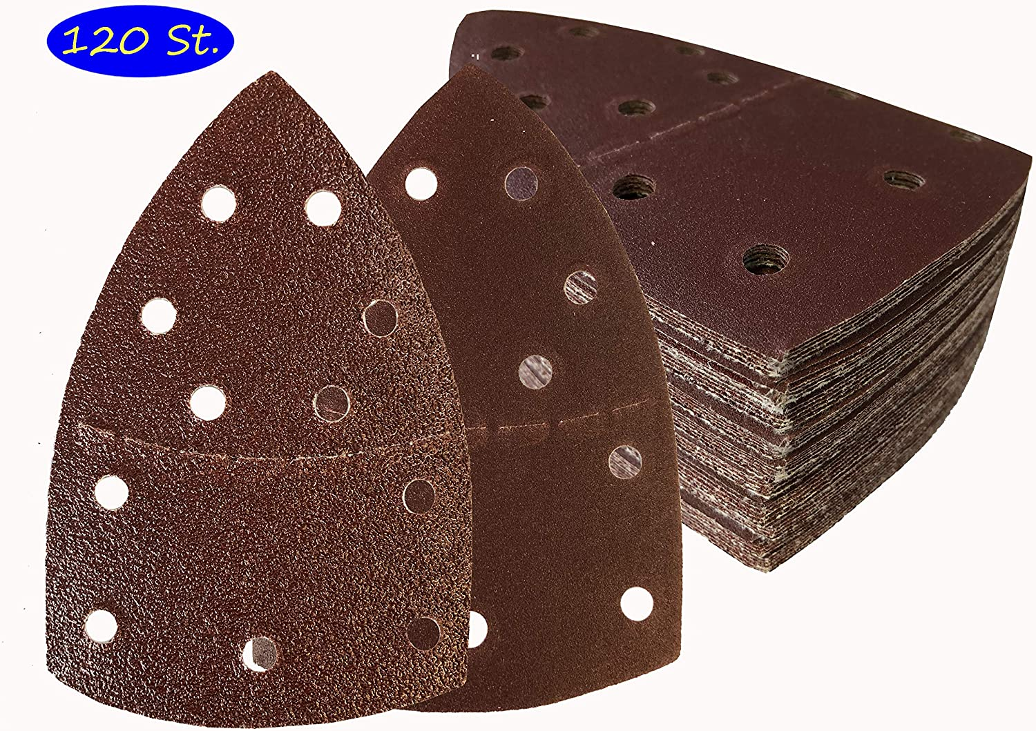 Lot de 120 feuilles abrasives /à grain 40//60//80//120//180//240 105 x 152 mm