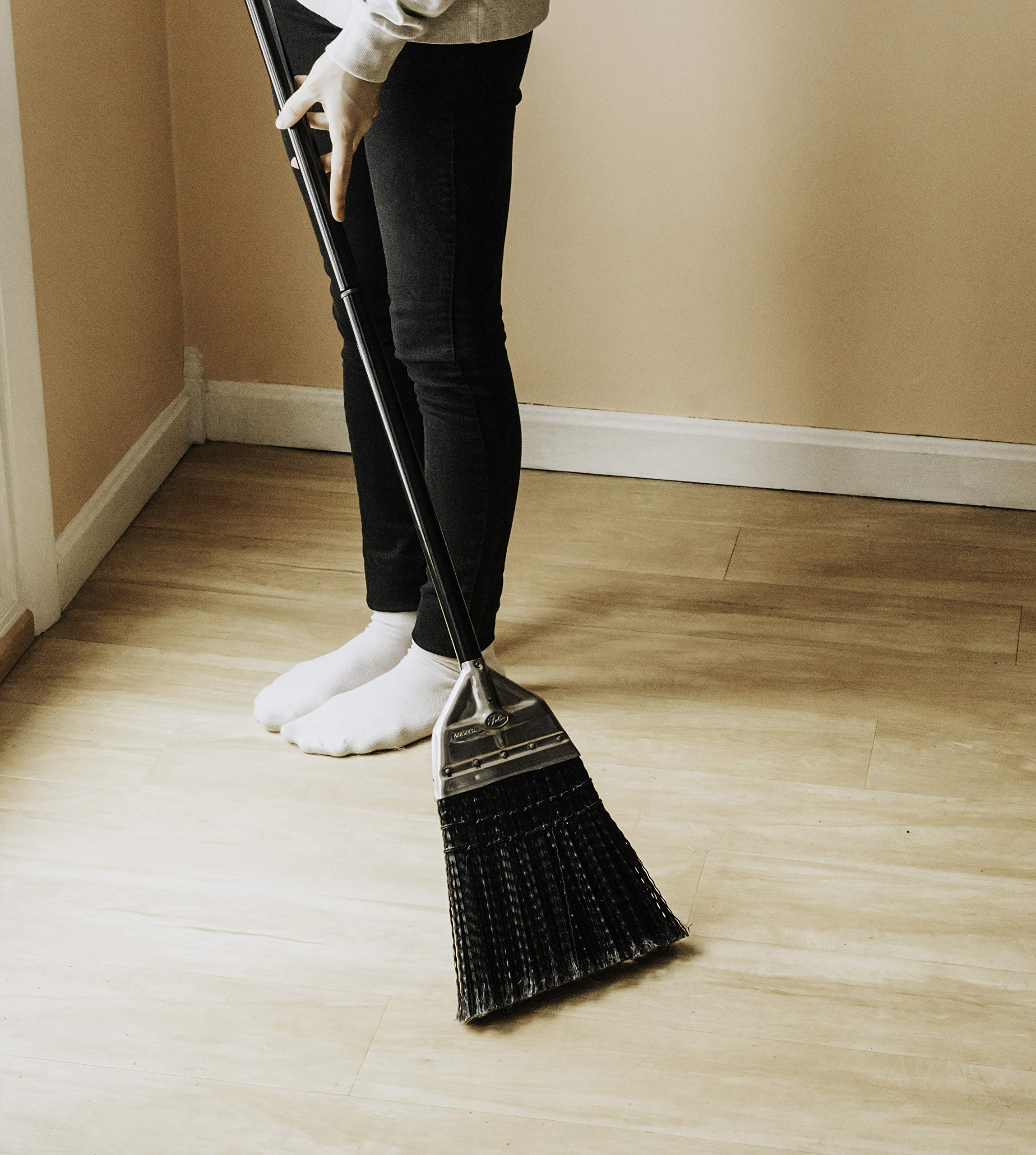 Fuller Brush Broom - Premium Grade Heavy Duty Straight Surface Sweeper w/ Chemical & Grease Proof Bristles For Sweeping All Floor Types Indoor & Outdoor by Fuller Brush (Image #2)