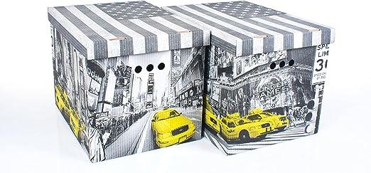 Cajas decorativa de cartón para almacenamiento, tamaño grande, 2 ...