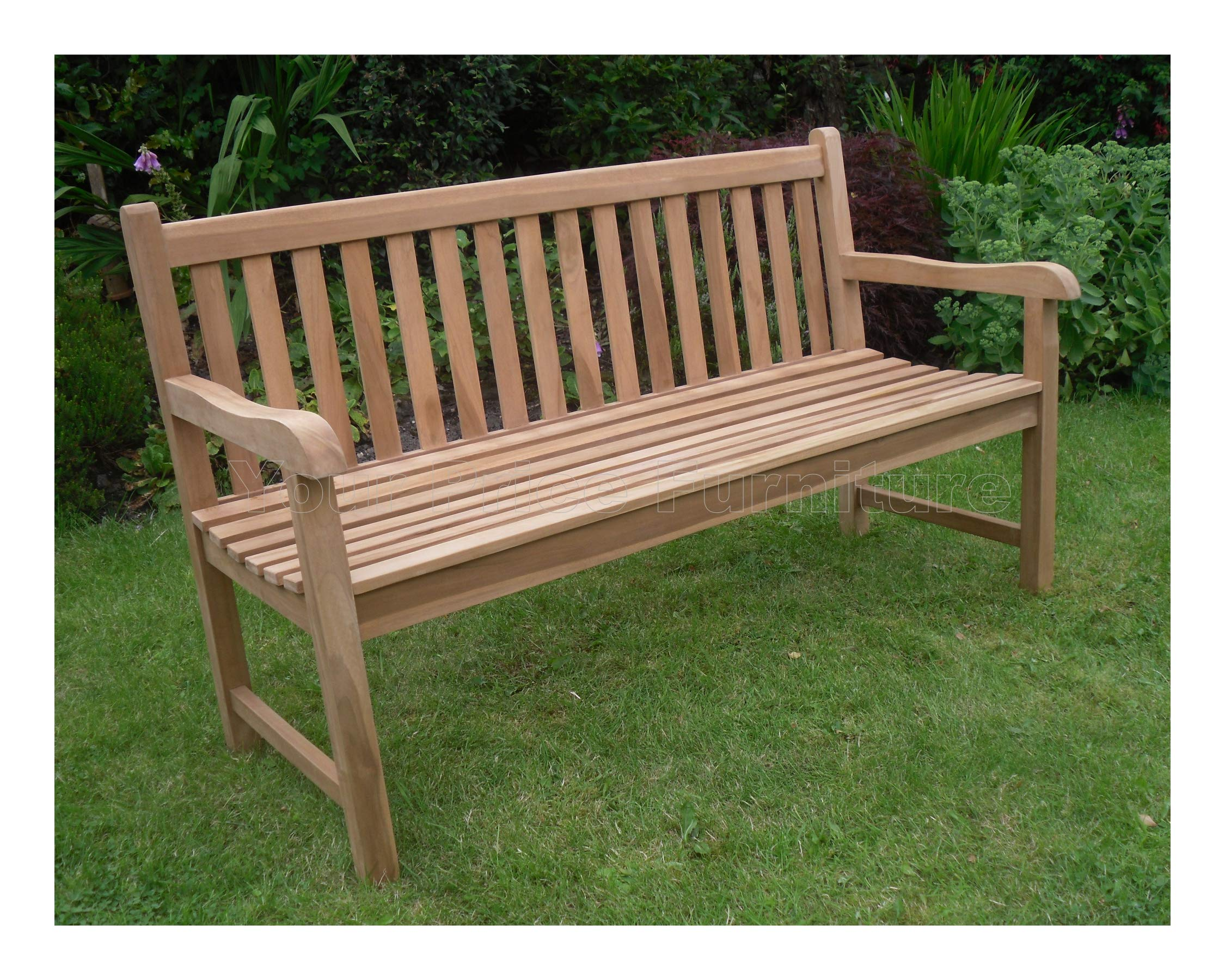 9ft 990cms 9.9m Chunky Teak 9 Seat Garden Park Bench Java Garden Furniture  For Your Patio
