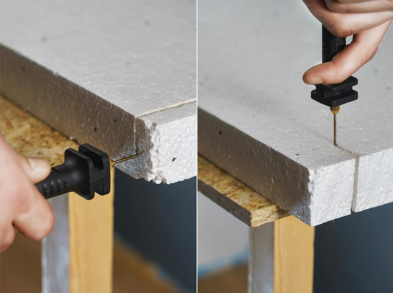 Nordstrand Cortador de espuma caliente Cable cuchillo eléctrico - de espuma de poliestireno poliestireno pluma herramienta de corte térmico - Set de 2: ...