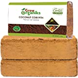 Grow Organiks Coco Coir Pith,Coco Peat Brick-1.4 lbs EA,(2 Bricks) OMRI Listed for Organic Use, Expansion Between 10-12L,Univ