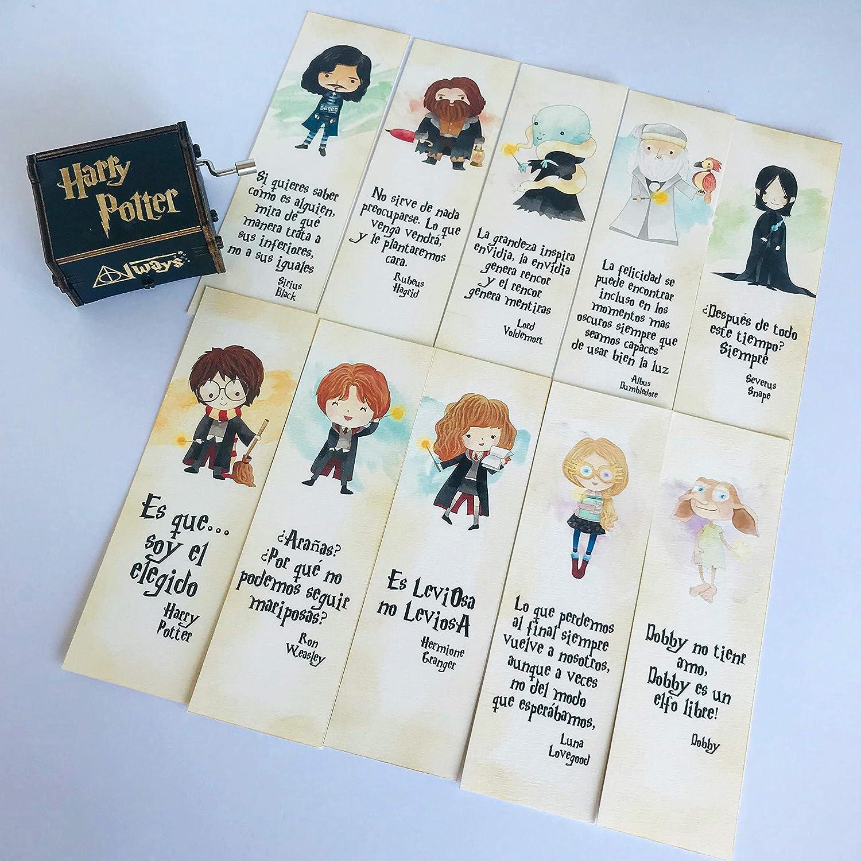 Pack 10 marcapáginas Harry Potter