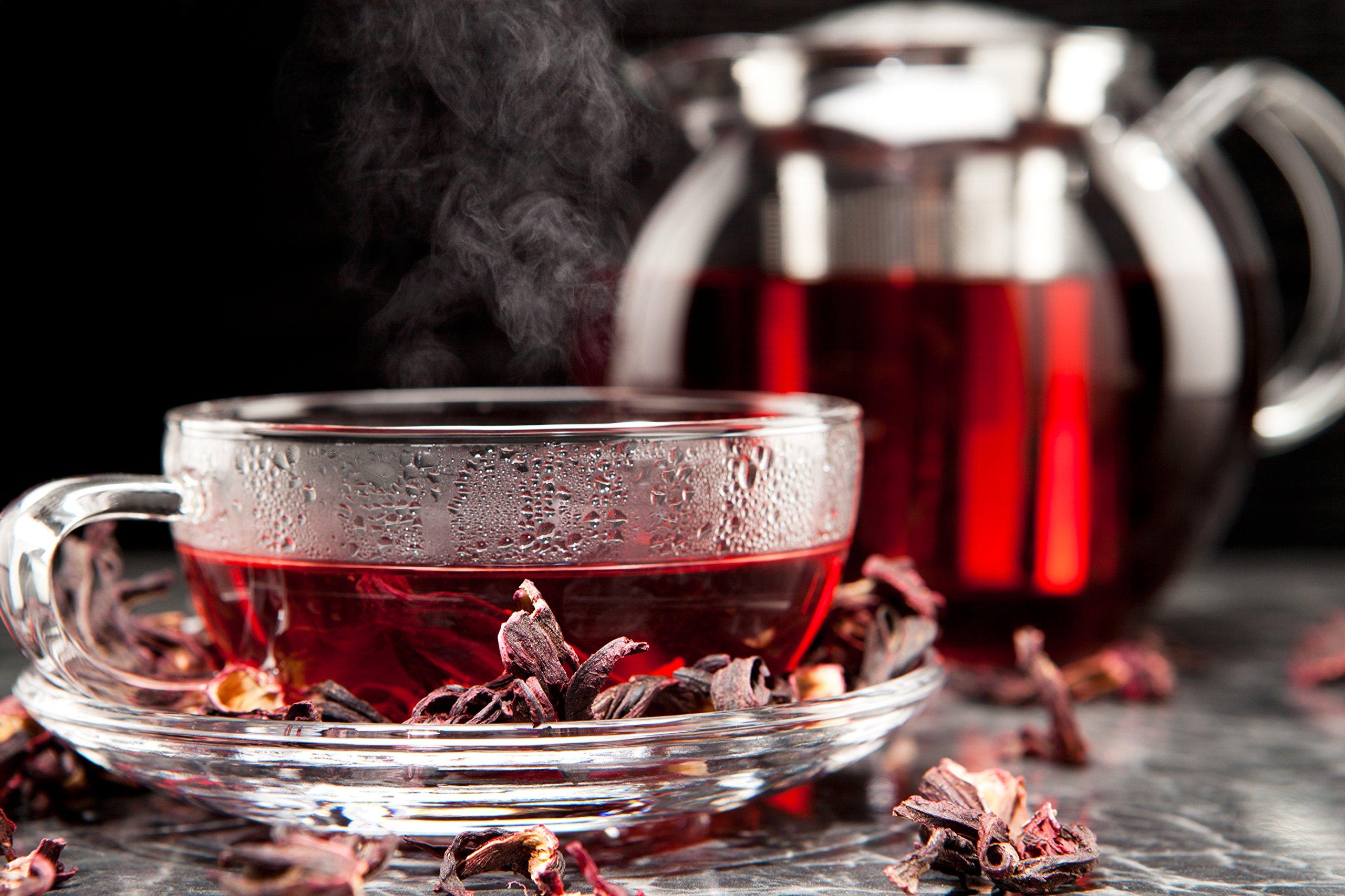 Hibiscus Tea 1LB (16Oz) 100% CERTIFIED Organic Hibiscus Flowers Herbal Tea (WHOLE PETALS), Caffeine Free in 1 lbs. Bulk Resealable Kraft BPA free Bags from U.S. Wellness by U.S. Wellness Naturals (Image #7)