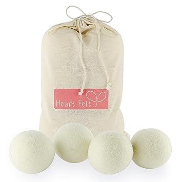 6 Pcs Dryer Pom Pom Felt Balls Wool White Felt Dryer Ball Dryer Ball Size Xl Other Home Cleaning Supplies
