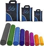 1er Pack und 2er-Set Mikrofaser Handtücher , ultra saugfähig + leicht, Sporthandtuch, Reisehandtuch, Badetuch Microfaser, Saunatuch, Strandhandtuch xxl