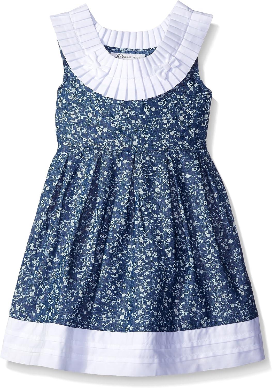 Nautica Childrens Apparel Little Girls Toddler Scuba Box Pleat Dress W//