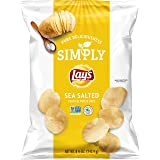 Simply Lay's Sea Salted Thick Cut Potato Chips, 8.5 Ounce