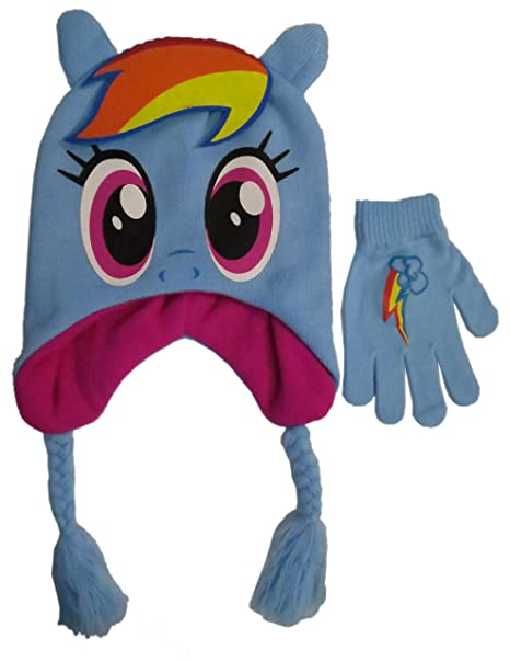 Amazon.com  My Little Pony Girls  Scandinavian Winter Hat and Glove ... ff393a38699