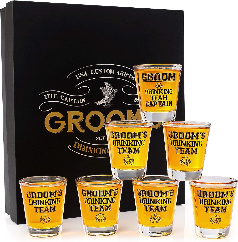 Gift Ideas Best Man Set Of 4 Groomsmen Shot Glasses