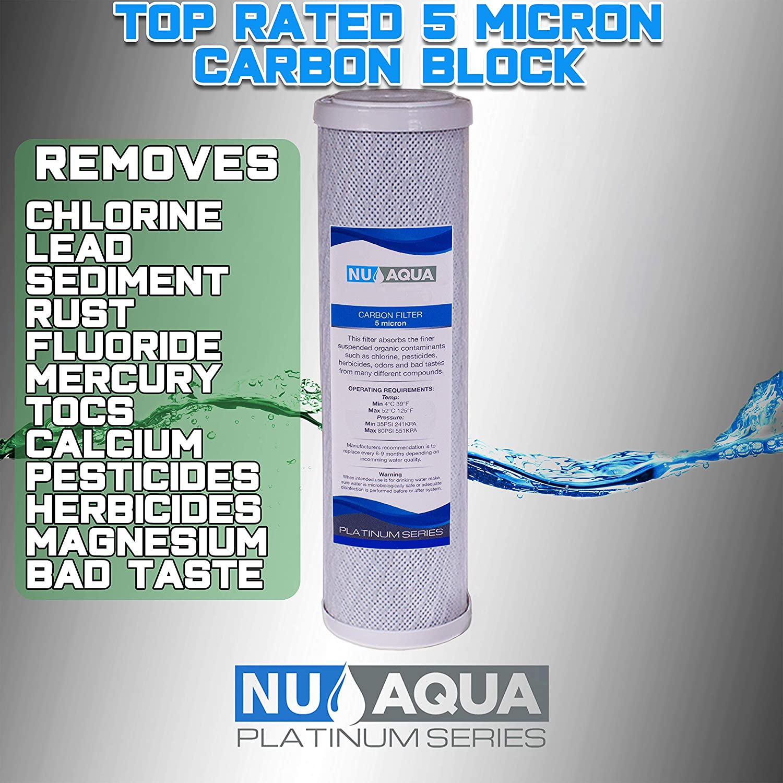 NU Aqua Premium Countertop Water Filter Removals