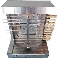 Bioexcel 2 Burners - Shawarma Machine Kebab Grill - Machine à doner Kebab avec 10 brochettes Kebab