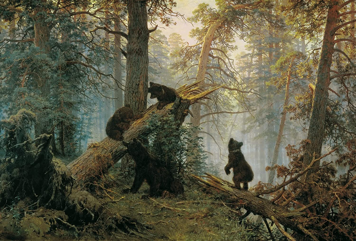 Morning in a Pine Forest Painting by Ivan Shishkin Giclee