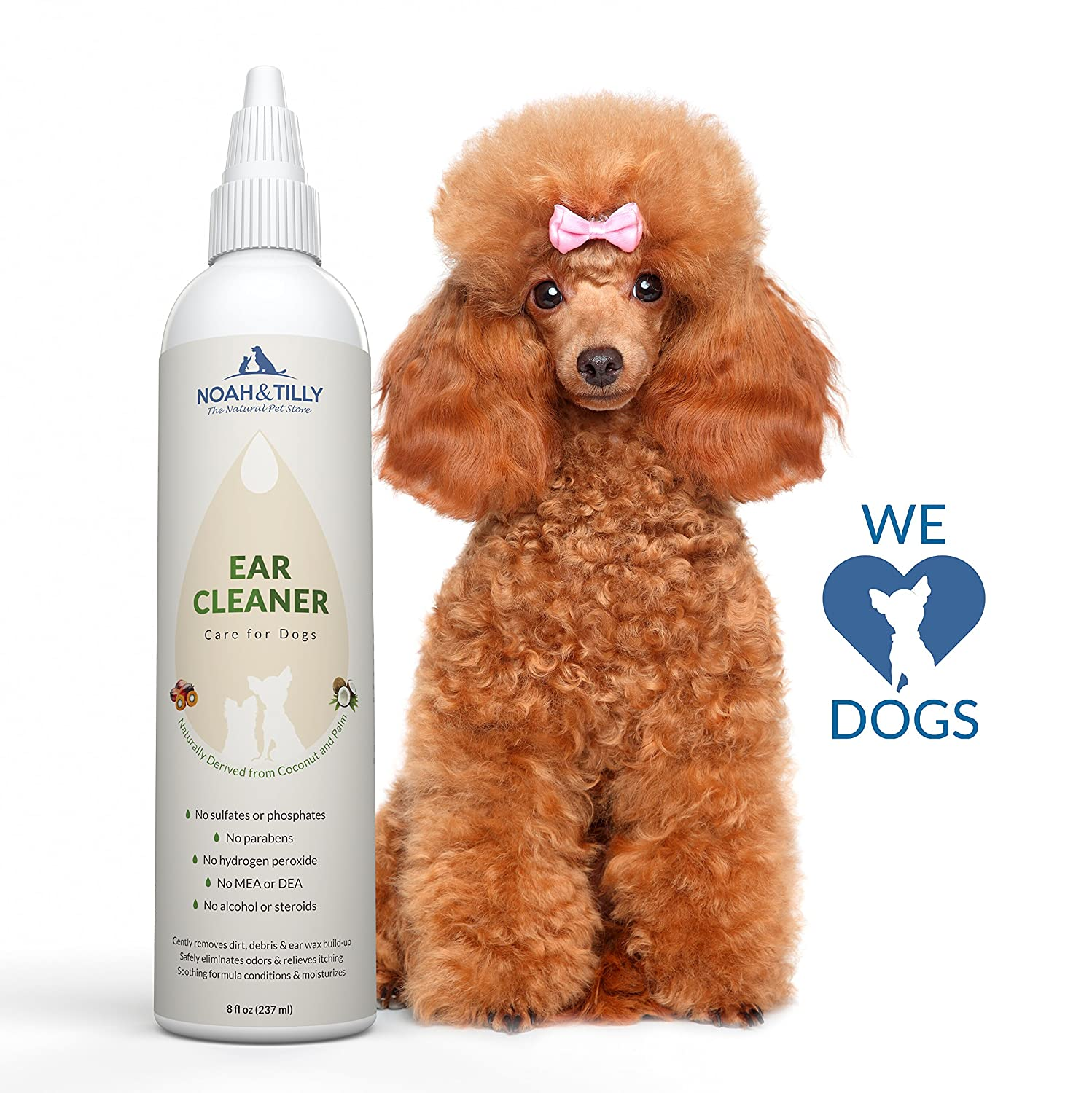 Amazon Natural Ear Cleaner for Dogs Gently Cleans Dogs