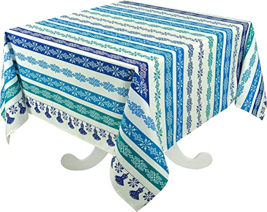 DreamyDesign Nappe de table rectangulaire en coton pour