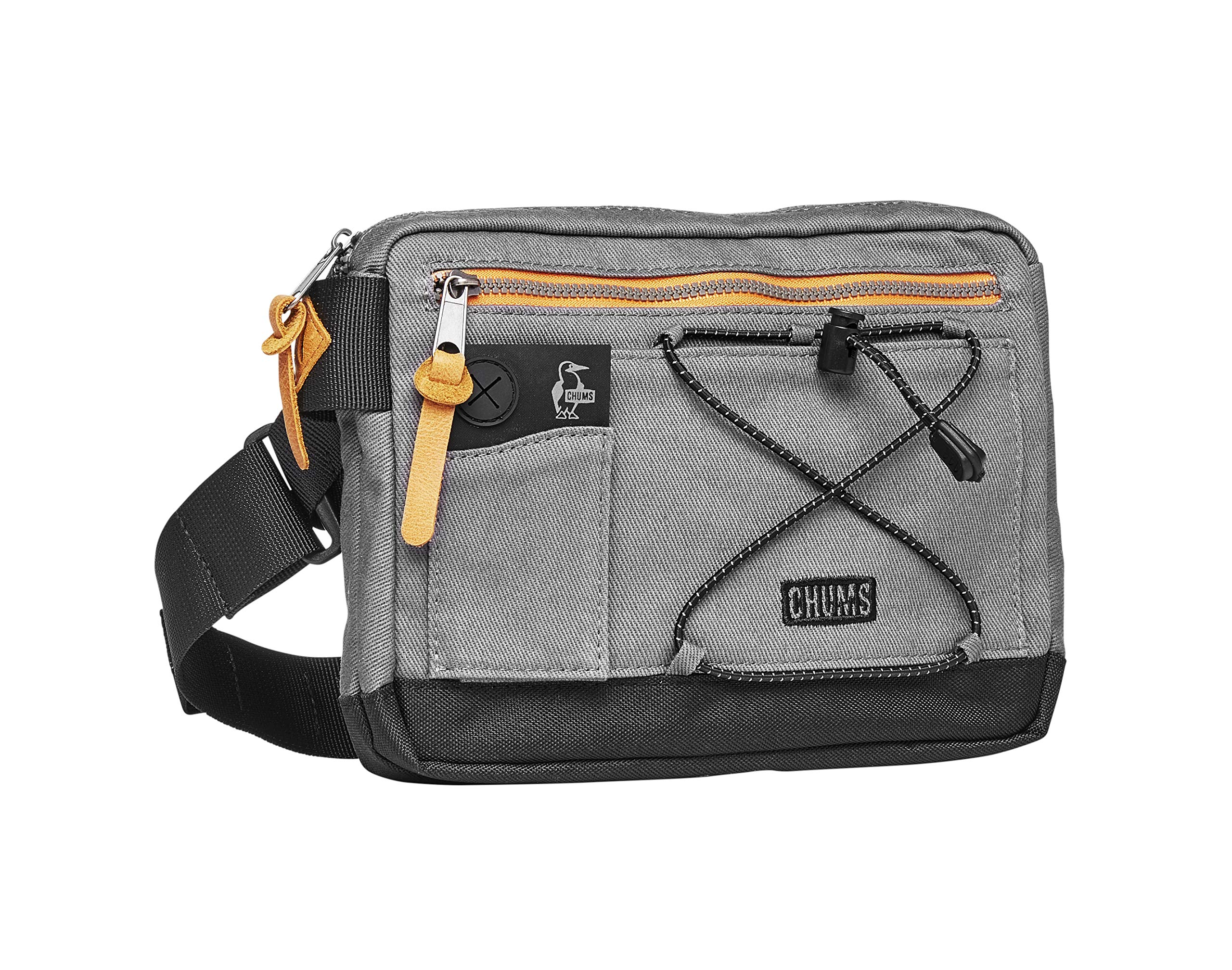 Chums Scrambler Reflective Waist Pack Shoulder Bag, Gray/Black, One Size by Chums