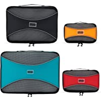 PRO Packing Cubes Lightweight Travel - Packing for Carry-on Luggage Suitcase and Backpacking Accessories Set Mixed Colors - 4 Piece