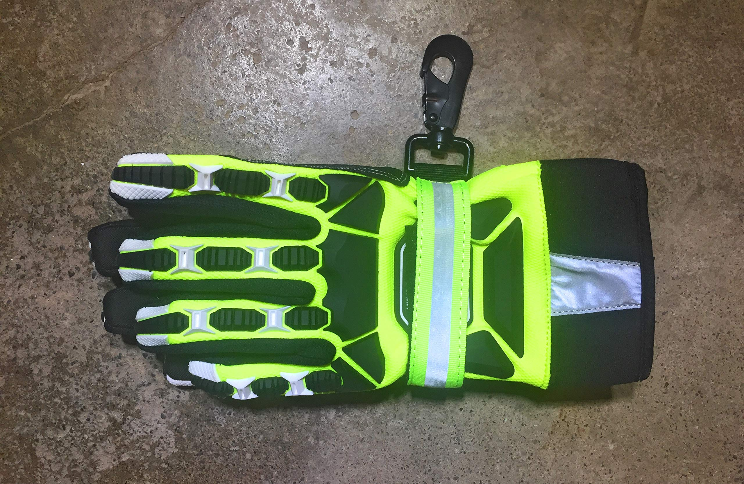 Cut Resistant Gloves Bundle - 1 - Firefighter Extrication Gloves (Large) | 1 - Glove Strap (lime Green) | 1 - Firefighter Journal (Track training hours, Run activities, work, ect.) by Generic (Image #7)