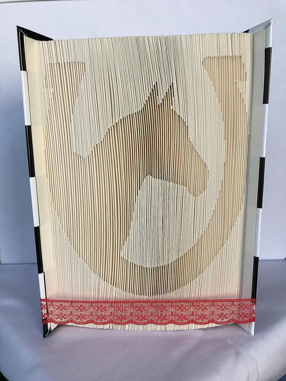 gefaltets Buch Pferd im Hufeisen//Geschenk//Pferdeliebhaber