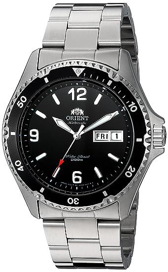 Reloj de Plata de Cuerda Manual Mako II Orient para Hombres e77298646cdf