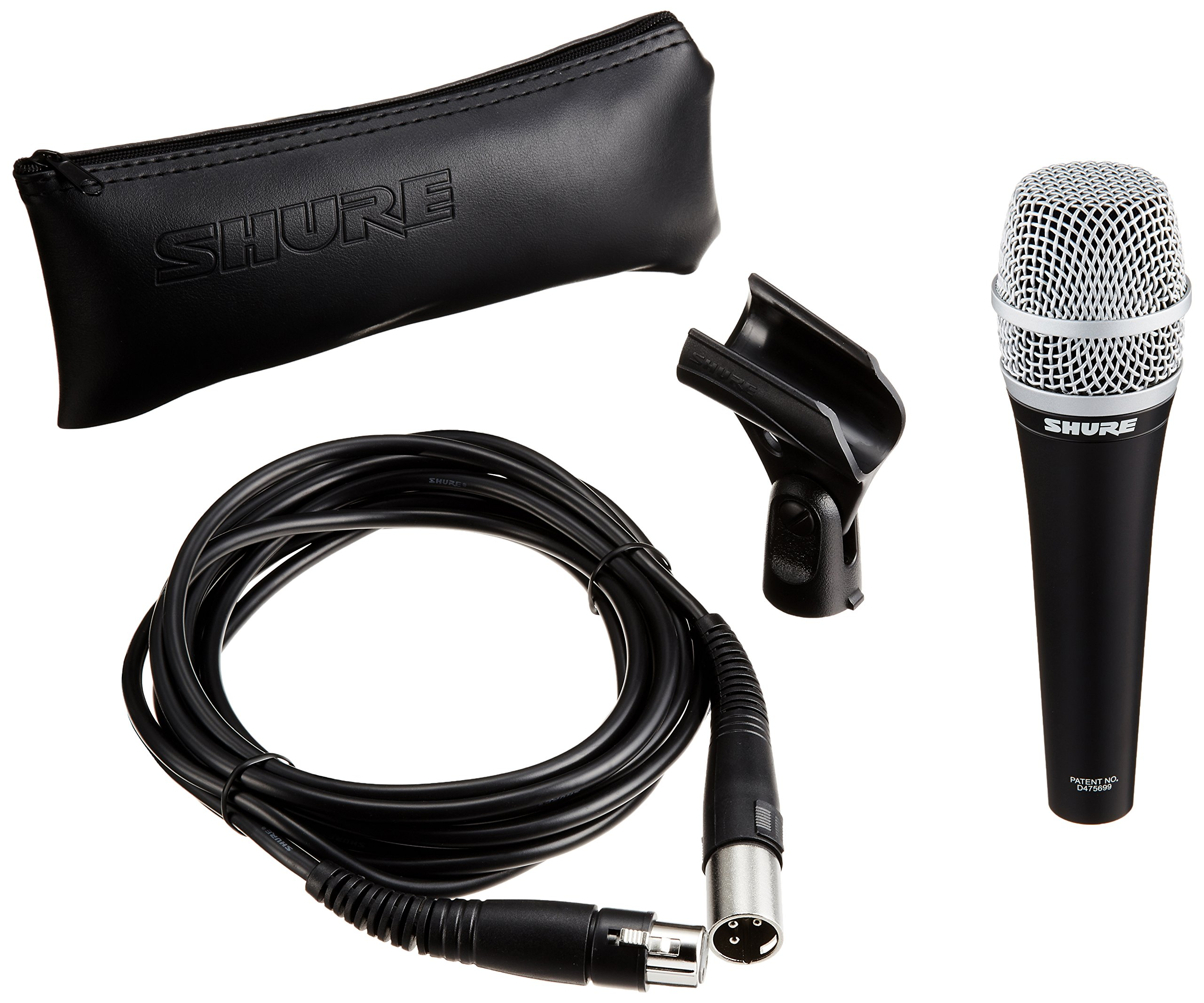 Shure PG57-XLR Cardioid Dynamic Instrument Microphone with XLR-to-XLR Cable