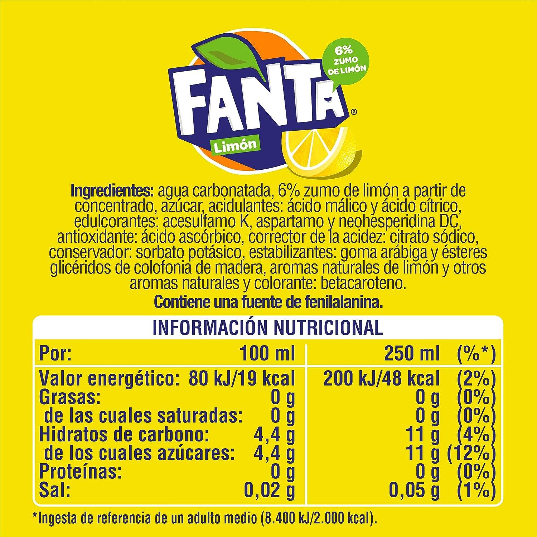Fanta Refresco con 6 % Zumo de Limón Botella, 2 x 2L