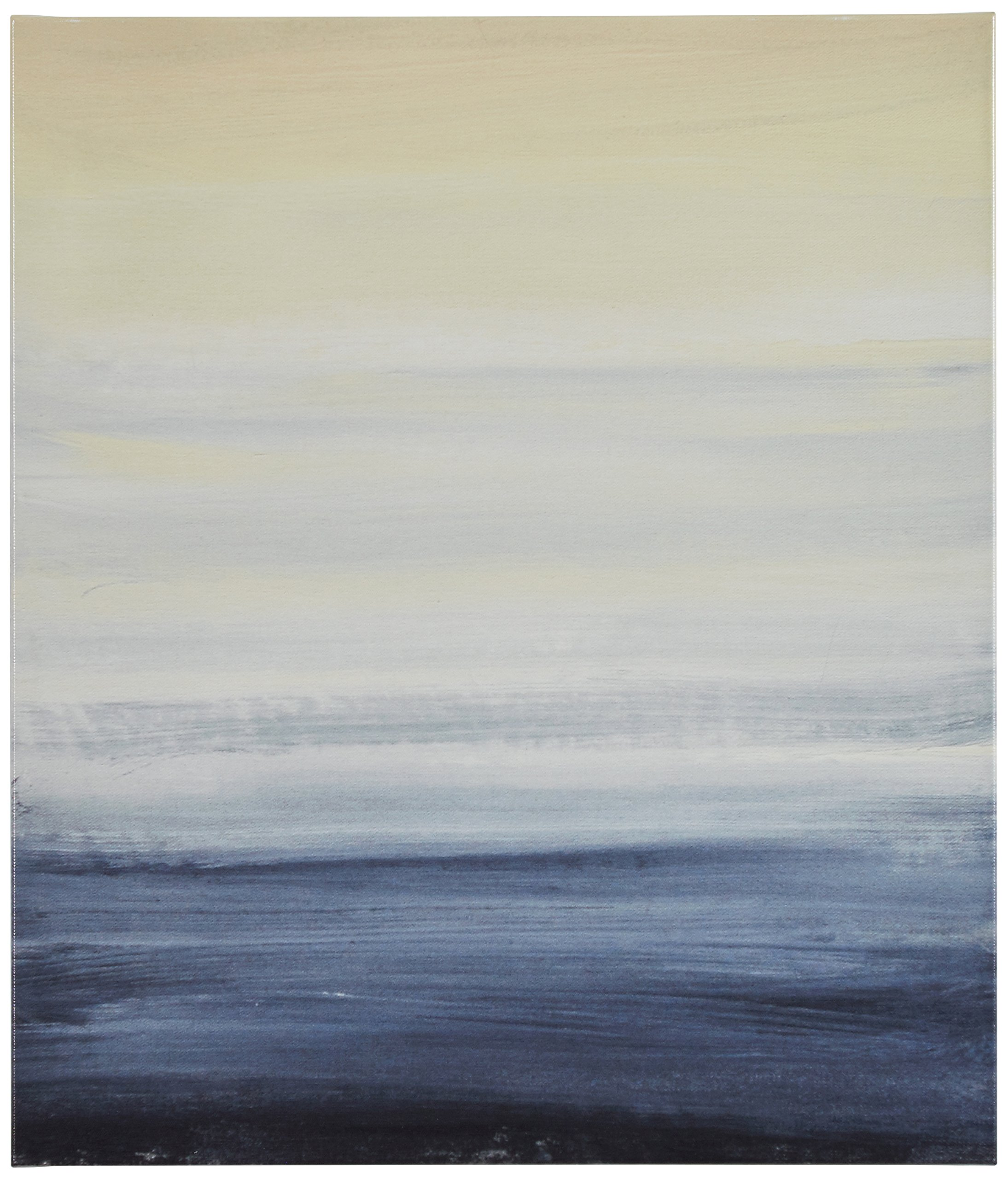 Modern Abstract Blue and Tan Ocean Print on Canvas, 20'' x 24'' by Stone & Beam